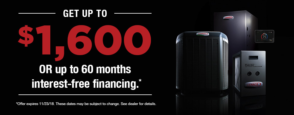 Save upto $1,700 on a new Lennox system
